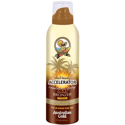Accelerator Dark Tanning Cont Spray w/bronzer