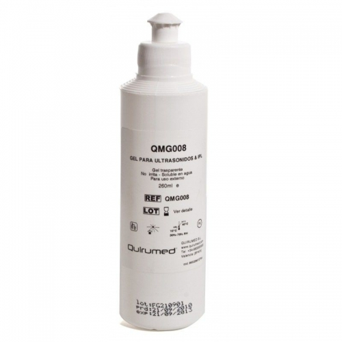 Gel conductor para ultrasonidos e ipl 260 ml.