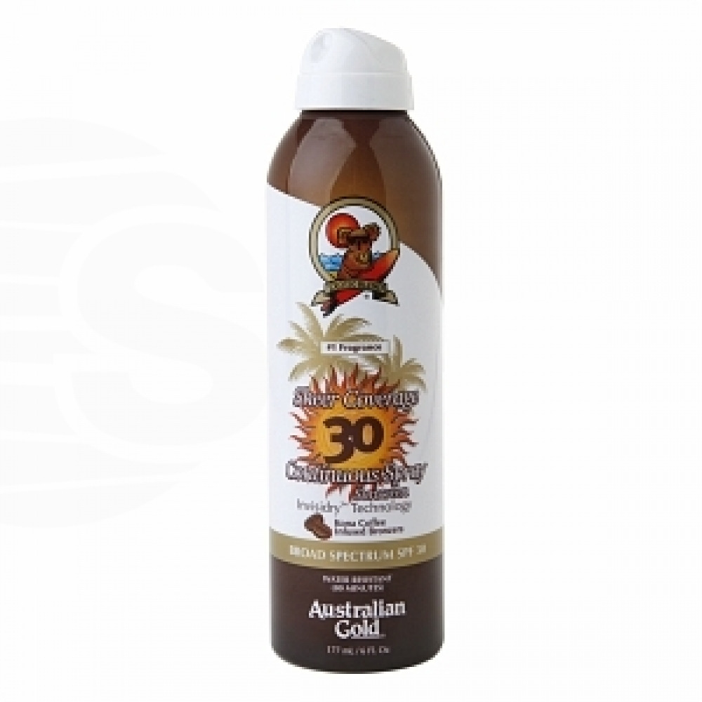 Australian Gold Premium - Coverage SPF 30 Cont Spray W/Bronze