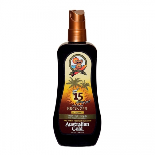Australian Gold - SPF 15 Spray Gel W/Bronzer Australian Gold