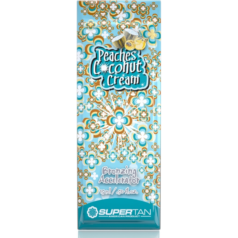 Supertan Peaches & Coconut 15 ML - Seule Portion Packs - Supertan