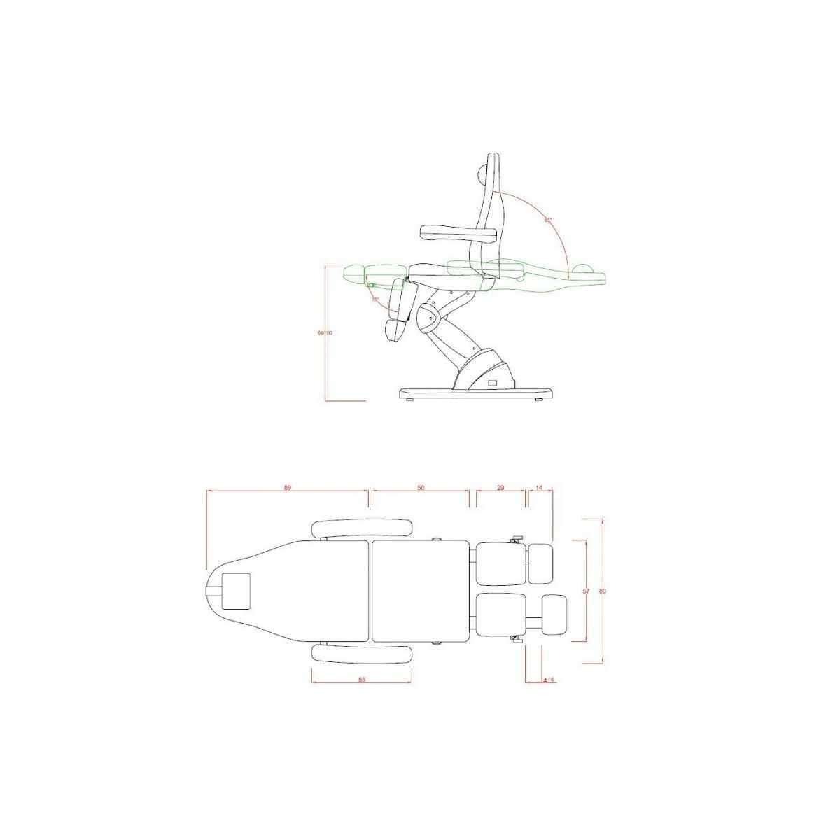 Cadeira podologia Technology White