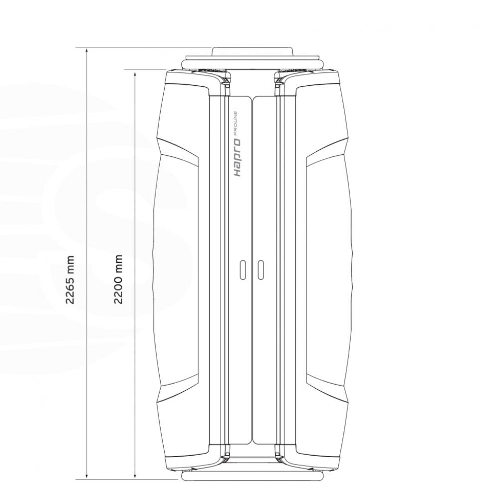 Solarium vertical Hapro Proline 28V