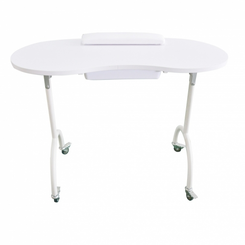 Table manicure portable with drawer