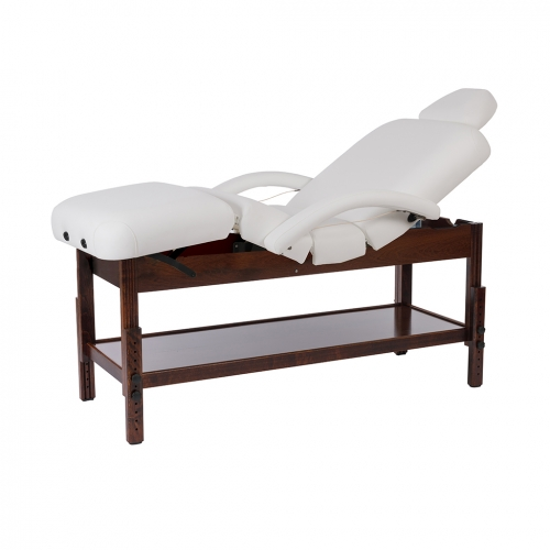 Wooden fixed massage table Desa brown