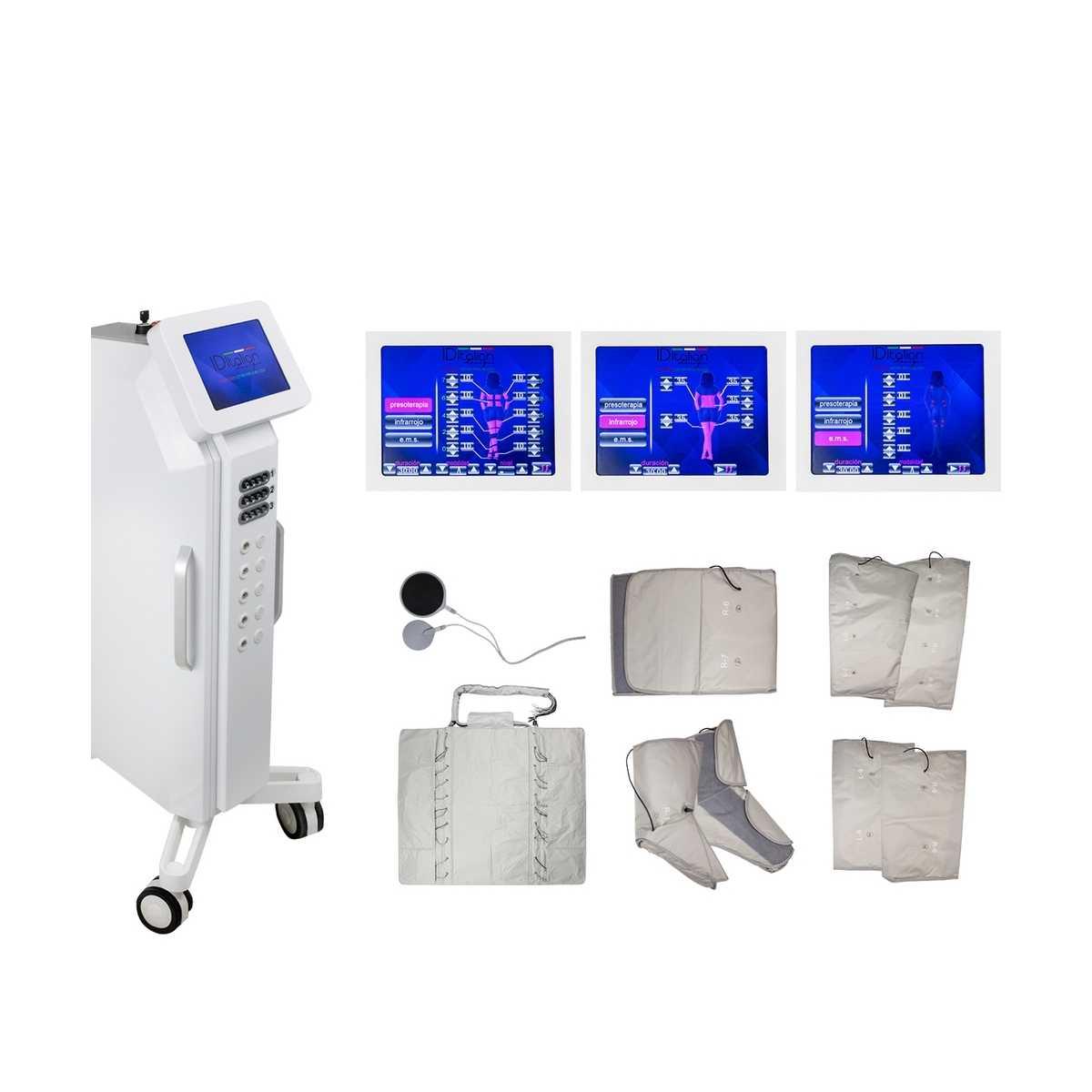 Presoterapia XL 3 en 1 Profesional Digital Premium con Electroestimulacion y Sauna