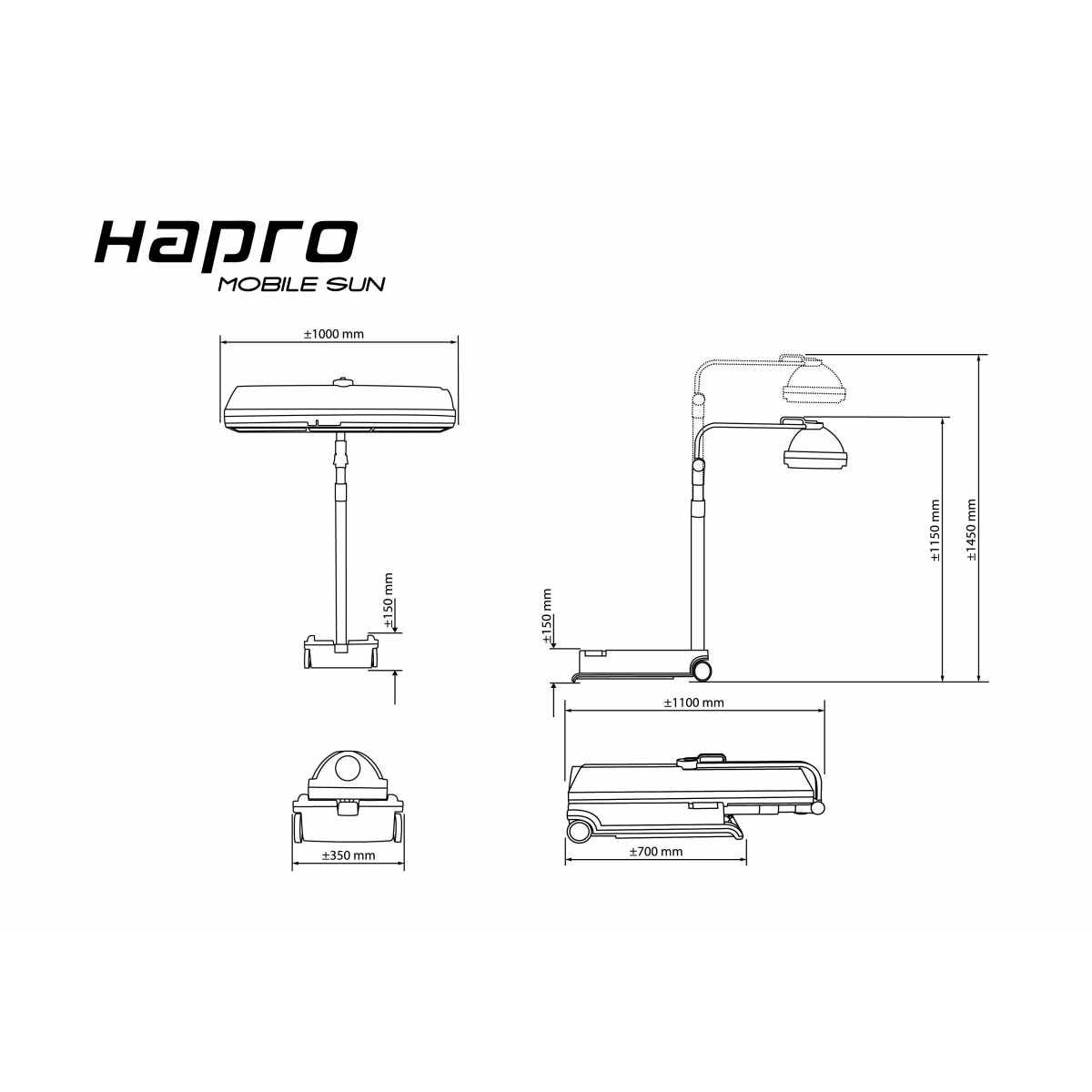 Hapro MobileSun HP 8540 Solarium, compact