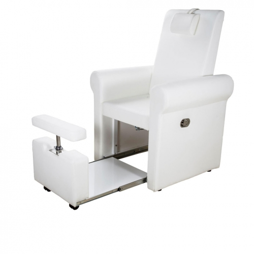 Lumina Pedicure armchair Spá Multifunctional White - Stretchers and chairs - Weelko